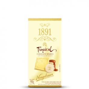 Chocolate Branco em Barra com Flocos de Banana Neugebauer 90g