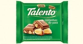 Chocolate em Barra Talento Castanha do Pará 90g