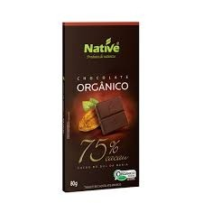 Chocolate Orgânico 75% Cacau Native 80g