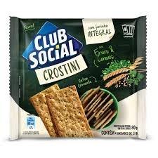 Biscoito Club Social Crostini Integral Ervas e Cereais 80g