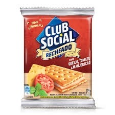 Biscoito Club Social Recheado Queijo, Tomate e Manjericão 106g