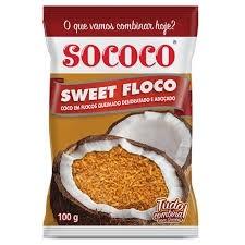 Coco em Flocos Queimados Sococo 100g