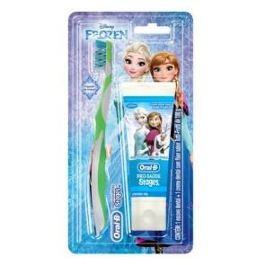 Conj. Escova Oral B Stages + Creme Dental Frozen