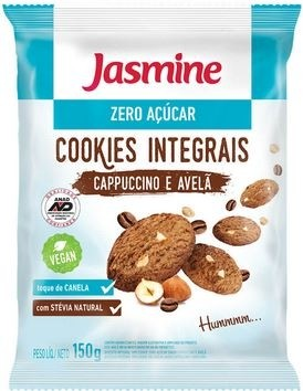 Cookies Integrais Cappuccino e Avelã Jasmine 150g