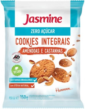 Cookies Integrais Amêndoas e Castanhas Jasmine 150g