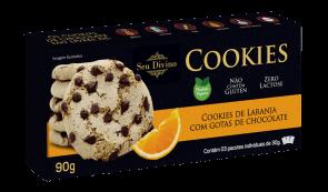 Cookies Laranja S/ Lactose S/Glúten Vegano S. Divino 90g