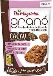 Da Magrinha Quadradinhos de Granola Cacau com Gotas de Crocante 35g