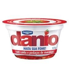 Iogurte Danone Danio 8,7g de Proteína com Pedaços de Morango 125g