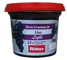 Doce de Fruta Uva Light Ritter 380g