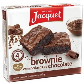 Brownie com Pedaços de Chocolate Jacquet 245g