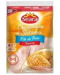 Filé peito de Frango Temperado IQF Seara 1kg