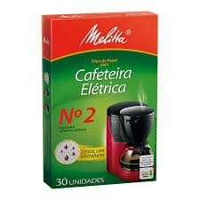 Filtro de Papel Nº2 Cafeteira Elétrica Melitta C/ 30