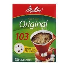 Filtro Melitta 103 com 30 unidades
