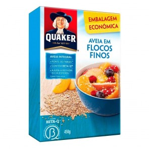 Aveia Flocos Finos Quaker Caixa 450g