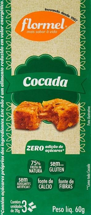 Cocada Zero Flormel c/3 60g