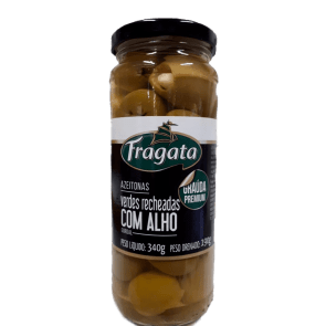 Azeitona Verde Gordal Fragata Alho 190g