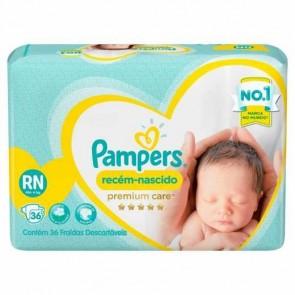 Fralda Pampers Premium RN C/36