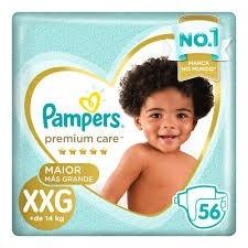 Fralda Pampers Premium Care XXG C/56