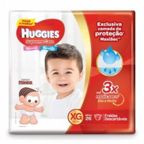 Fraldas Huggies Supreme Care Mega XG C/26