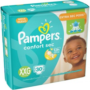 Fralda Pampers Confort Sec XXG c/30