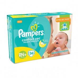 Fralda Pampers Confort Sec RN c/36