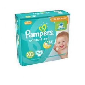 Fralda Pampers Confort Sec XG c/34