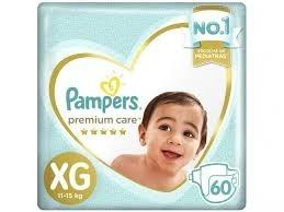 Fraldas Pampers Premium Care XG C/60