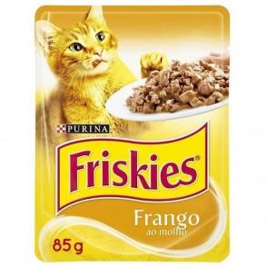 Alimento Para Gatos Friskies Purina Sachê Sabor Frango 85g