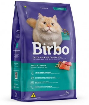 Alimento p/ Gatos Castrados Frutos do Mar Birbo 1kg