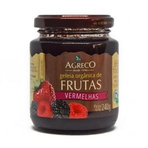 Geleia Frutas Vermelhas Organica Agreco 240g
