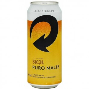 Cerveja Skol Puro Malte Lata 473ml