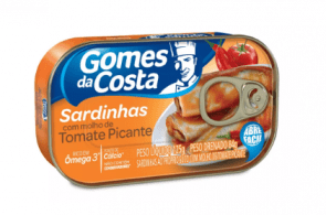 Sardinha Gomes da Costa Com Tomate Picante 125g
