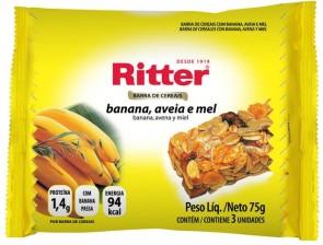 Barra Cereal Banana, Aveia e Mel Ritter 100g