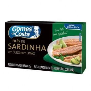 Filé de Sardinha c/ Limão Gomes da Costa 125g