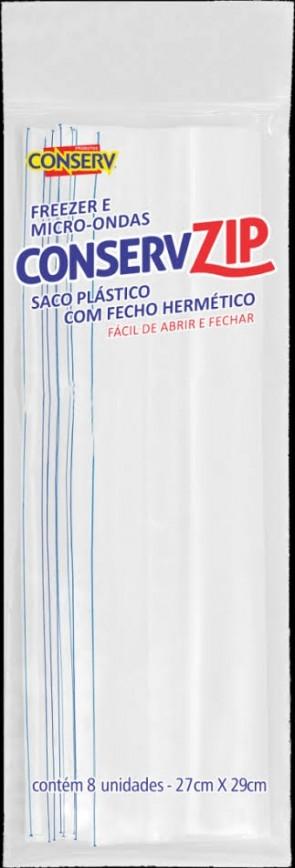 Saco Conserv Zip 27cm x 28cm c/8