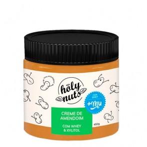 Creme de Amendoim Holy Nus c/ Whey e Xilitol 450g