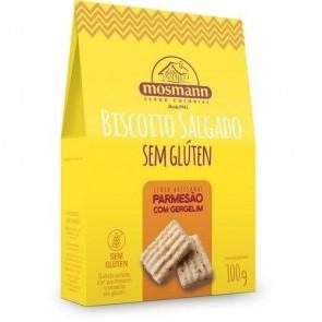 Biscoito Parmesão C/ Gergelim S/Glúten Mosmann 100g