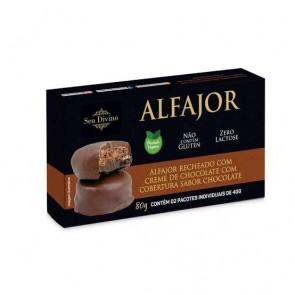 Alfajor Chocolate S/Glúten S/Lactose Vegano S. Divino 80g