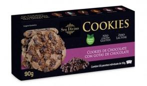 Cookies Chocolate S/Glúten S/Lactose Vegano S. Divino 90g