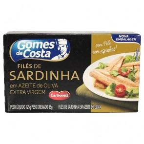 Filé de Sardinha c/ Azeite de Oliva Gomes da Costa 125g