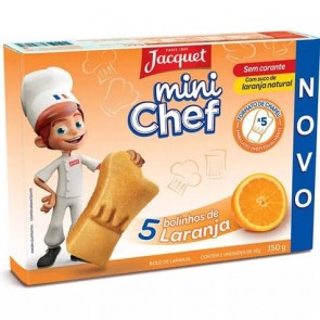 Mini Bolo Laranja Mini Chef Jacquet 150g