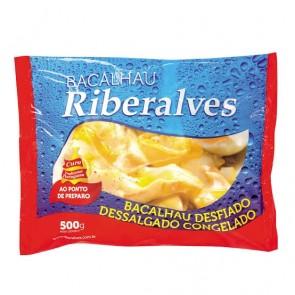 Bacalhau Desfiado Dessalgado Riberalves - congelado 500g