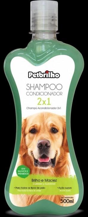 Shampoo Condicionador 2x1 500ml PetBrilho