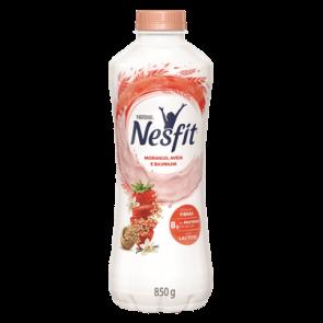 Iogurte Nesfit Morango, Aveia e Baunilha Sem Lactose 850g