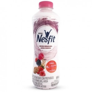 Iogurte Nesfit Frutas Vermelhas, Aveia e Hibisco Sem Lactose 850g