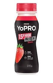 Iogurte Danone Yopro 15g High Protein Morango Zero Lactose 250g