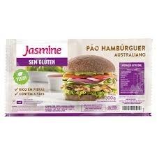 Pão Hambúrguer Australiano  Vegan s/Glúten Jasmine 300g