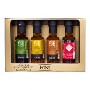 Conjunto Azeite de Oliva Condimentados Pons 125 ml