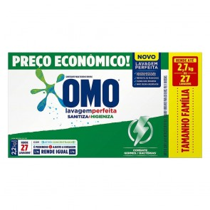 Lava Roupas em Pó Omo Sanitiza/Higieniza 2,2kg