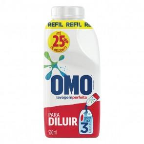 Lava Roupa Concentrado Omo p/Diluir Refil 500ml